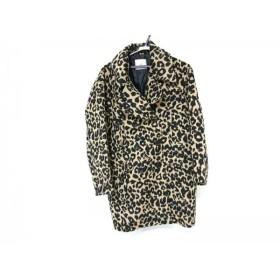 【中古】 スライ SLY コート サイズ2 M レディース 美品 黒 ベージュ 冬物/豹柄