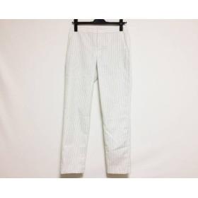 【中古】 ニジュウサンク 23区 パンツ サイズ36 S レディース 白 黒 ステッチ