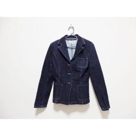 【中古】 ヴァンドゥ オクトーブル 22OCTOBRE ジャケット サイズ38 M レディース ネイビー デニム