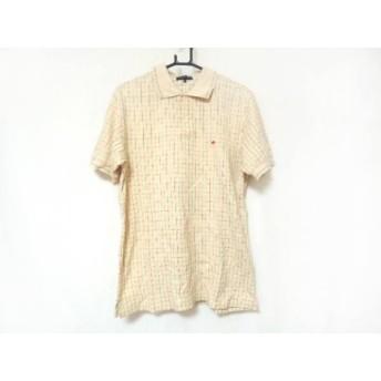 【中古】 パーリーゲイツ 半袖ポロシャツ サイズ5 XL メンズ 美品 ベージュ ピンク グリーン チェック柄