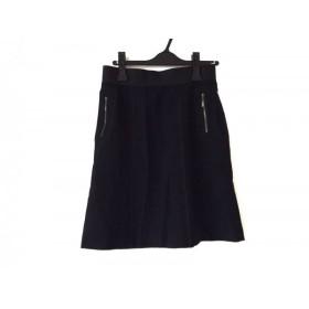 【中古】 ランバンコレクション LANVIN COLLECTION スカート サイズ40 M レディース 黒