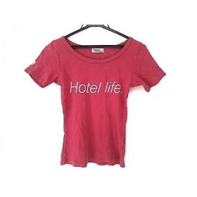 【中古】 ヒステリックグラマー HYSTERIC GLAMOUR 半袖Tシャツ レディース レッド アイボリー