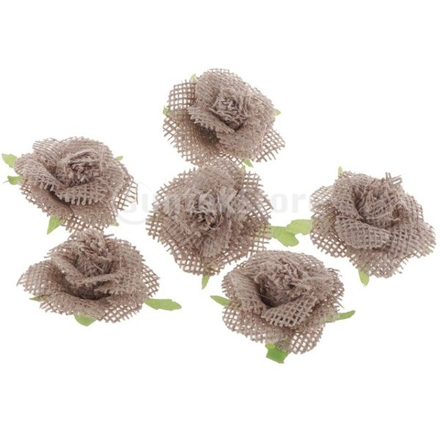 FLAMEER 6個 バラの花 造花 結婚式装飾 DIY 手芸用 パーティー装飾