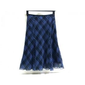 【中古】 ジェイアンドアール J & R スカート サイズS レディース 青 黒