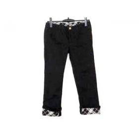 【中古】 バーバリーブルーレーベル Burberry Blue Label パンツ サイズ36 S レディース 黒 チェック柄