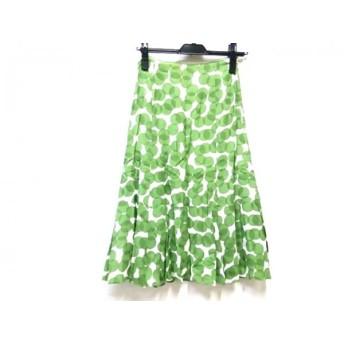 【中古】 イエナ IENA ロングスカート サイズ36 S レディース グリーン ホワイト