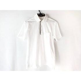 【中古】 ダックス DAKS 半袖ポロシャツ サイズS レディース 白 ダークブラウン