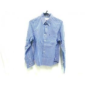 【中古】 アバクロンビーアンドフィッチ 長袖シャツ サイズS メンズ ブルー ホワイト ピンク