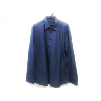 【中古】 ハケット Hackett 長袖シャツ サイズXXL XL メンズ ブルー ブラウン