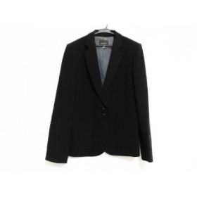 【中古】 ボッシュ BOSCH ジャケット サイズ38 M レディース 黒 肩パッド