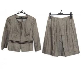 【中古】 アナイ ANAYI スカートスーツ サイズ38 M レディース グレー ラメ