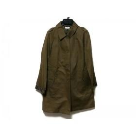 【中古】 ラコステ Lacoste コート サイズ40 M レディース ダークブラウン 冬物