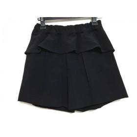 【中古】 カオン kaon ショートパンツ サイズ36 S レディース 黒 フリル/センターシーム