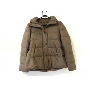 【中古】 ニジュウサンク 23区 ダウンジャケット サイズ32 XS レディース 美品 カーキ ファー/冬物