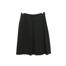 【中古】 エポカ EPOCA スカート サイズ42 L レディース ダークネイビー シルク