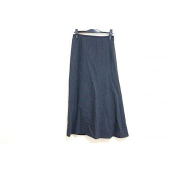 【中古】 ランバン LANVIN ロングスカート サイズ36 S レディース ダークグレー