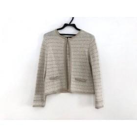 【中古】 アンタイトル UNTITLED ジャケット サイズ2 M レディース ベージュ ラメ