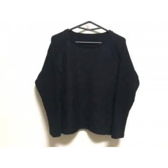 【中古】 グレースコンチネンタル GRACE CONTINENTAL 長袖カットソー サイズ36 S レディース 黒