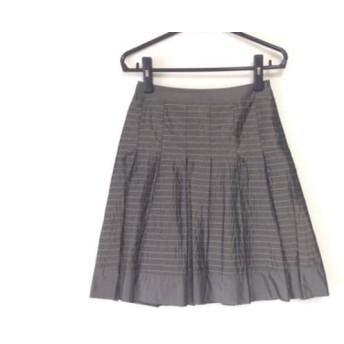 【中古】 エストネーション ESTNATION スカート サイズ38 M レディース カーキ プリーツ