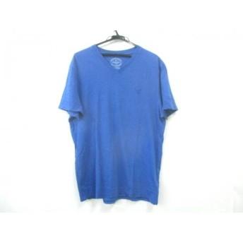 【中古】 アメリカンイーグル American Eagle 半袖Tシャツ サイズL L メンズ ブルー