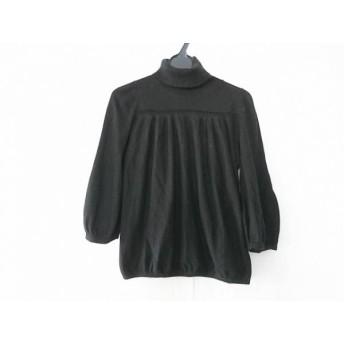 【中古】 アナトリエ anatelier 七分袖セーター サイズ38 M レディース 黒 タートルネック