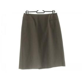 【中古】 ハロッズ HARRODS スカート サイズ3 L レディース ブラウン