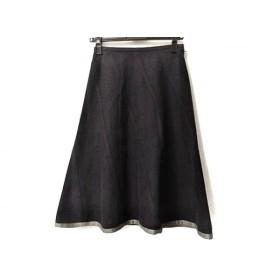 【中古】 サリースコット Sally Scott スカート サイズ9 M レディース ネイビー