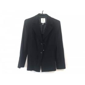 【中古】 クミキョク 組曲 KUMIKYOKU ジャケット サイズ1 S レディース 美品 黒 肩パッド