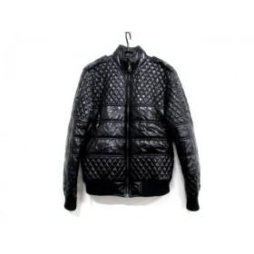 【中古】 シャネル CHANEL ダウンジャケット サイズ38 M レディース P42148 黒 キルティング/冬物