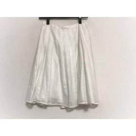 【中古】 アプワイザーリッシェ Apuweiser-riche スカート サイズ1 S レディース 白 シースルー/プリーツ