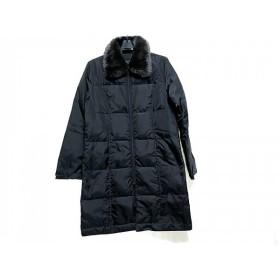 【中古】 コムサイズム COMME CA ISM コート サイズ9 M レディース 黒 中綿/冬物
