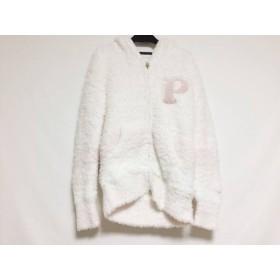 【中古】 ジェラートピケ gelato pique パーカー サイズF レディース 美品 ピンク ジップアップ