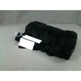 【中古】 グレースコンチネンタル GRACE CONTINENTAL ストール(ショール) 美品 黒 フラワー 化学繊維