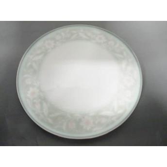 【中古】 ノリタケ Noritake プレート 新品同様 ライトグリーン 白 ピンク 花柄 陶器