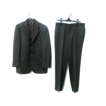 【中古】 ニューヨーカー NEW YORKER シングルスーツ サイズW 88 メンズ モスグリーン