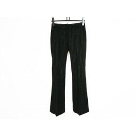 【中古】 セオリー theory パンツ サイズ0 XS レディース 黒 アイボリー ストライプ