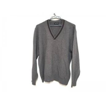 【中古】 ランバンコレクション 長袖セーター サイズL メンズ ダークグレー ダークブラウン