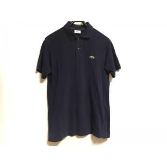【中古】 ラコステ Lacoste 半袖ポロシャツ メンズ ダークネイビー 刺繍