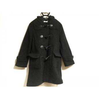 【中古】 クミキョク 組曲 KUMIKYOKU ダッフルコート レディース 黒 冬物