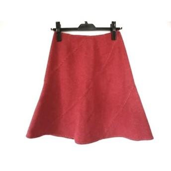 【中古】 バーバリーブルーレーベル Burberry Blue Label スカート サイズ36 S レディース レッド