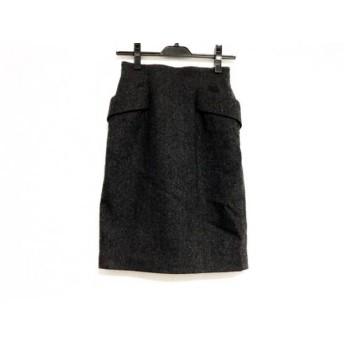 【中古】 ジャスグリッティー JUSGLITTY スカート サイズ0 XS レディース ダークグレー リボン