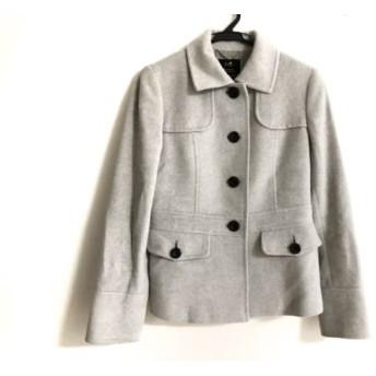 【中古】 ニジュウサンク 23区 コート サイズ38 M レディース ライトグレー 冬物