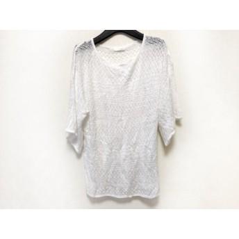 【中古】 インデックス INDEX 半袖セーター サイズM レディース 白 ニット/レース