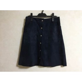 【中古】 ラウラ Laula スカート サイズ2 M レディース ネイビー Petit Couture