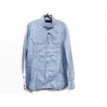 【中古】 エポカ EPOCA 長袖シャツ サイズ50 メンズ ライトブルー UOMO