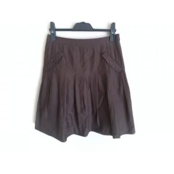 【中古】 ジャスグリッティー JUSGLITTY スカート サイズ2 M レディース ダークブラウン