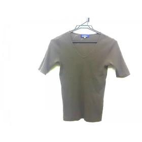 【中古】 バーバリーブルーレーベル Burberry Blue Label 半袖Tシャツ サイズM レディース カーキ
