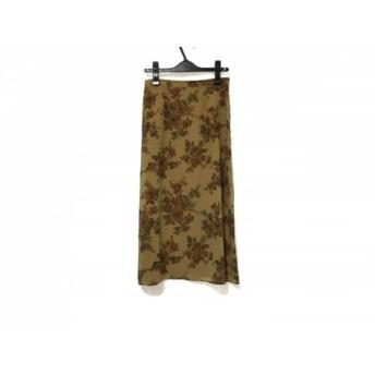 【中古】 バーバリーズ Burberry's スカート サイズ40 M レディース 美品 ブラウン マルチ 花柄
