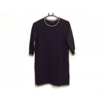 【中古】 ニジュウサンク 23区 ワンピース サイズ32 XS レディース 美品 黒 白