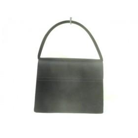 【中古】 プチソワール PETITSOIR ハンドバッグ 美品 黒 化学繊維